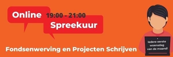 Spreekuur Fondsenwerving en Projecten Schrijven 02/06/2021