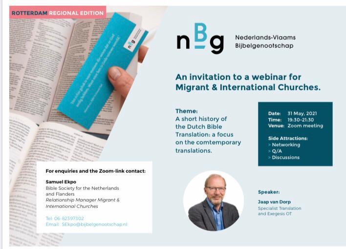 Webinar Nederlands Bijbel Genootschap 31/05/2021