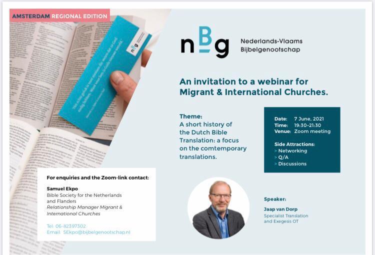Webinar Dutch Bible Society 07/06/2021